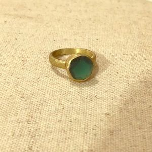 Anthropologie precious stone green ring